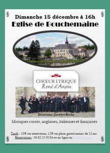 Concert à Bouchemaine – Dimanche 15 décembre à 16 h